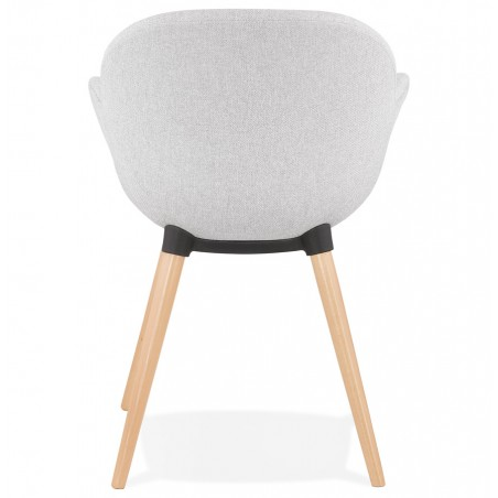 Sagia Fabric Upholstered Armchair - Rear View