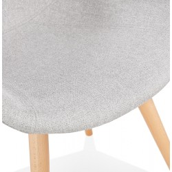 Sagia Fabric Upholstered Armchair - Chair Detail