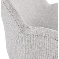 Sagia Fabric Upholstered Armchair - Arm Detail