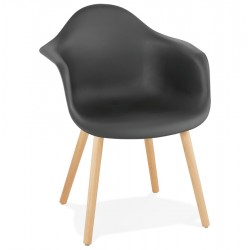 Claude Contemporary Armchair - Black