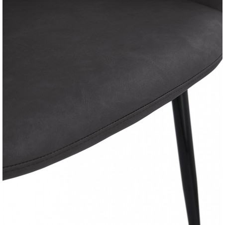 Klappa Faux Leather Armchair - Dark Grey  Seat Detail