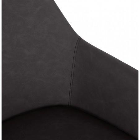 Klappa Faux Leather Armchair - Dark Grey  Arm Detail