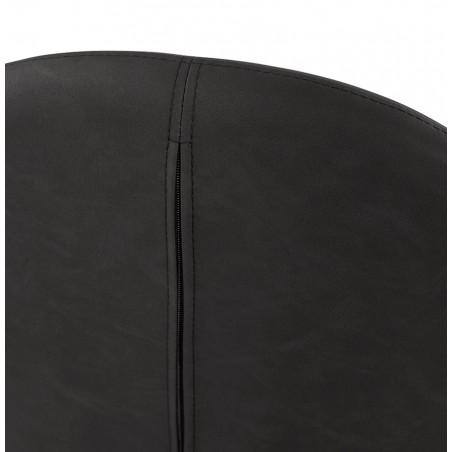 Klappa Faux Leather Armchair - Dark Grey  Back Detail