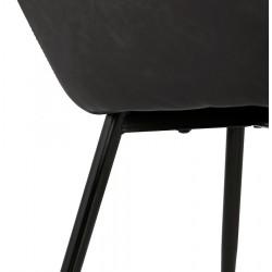 Klappa Faux Leather Armchair - Dark Grey Fixing Detail
