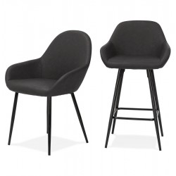 Klappa Faux Leather Armchair & Stool Combo