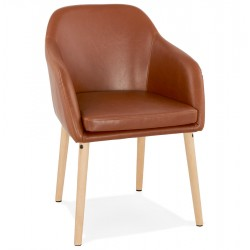 Maddox Faux Leather Armchair