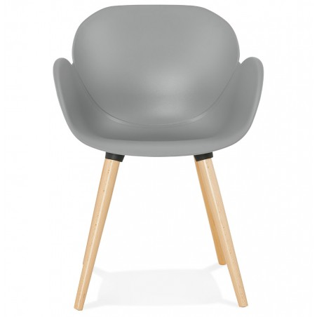 Sittwell Contemporary Armchair - Grey Front View