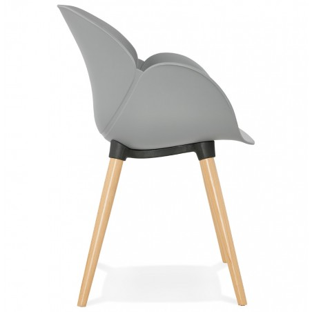Sittwell Contemporary Armchair - Grey Side View
