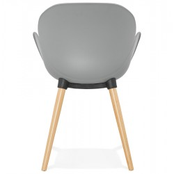 Sittwell Contemporary Armchair - Grey Rear View