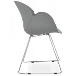 Telsta Modern Armchair - Grey Side View