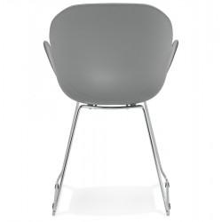 Telsta Modern Armchair - Grey Rear View
