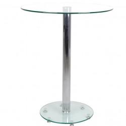 Mildura Glass Bar Table - Clear