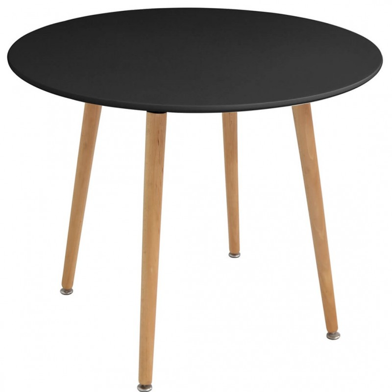 An image of Malbon Rectangle or Round Dining Table - Black - Round