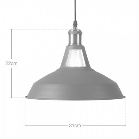 Industrial Metal Pendant Light sizes.