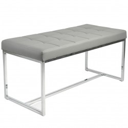 Ibarra PU Leather and Chrome Dining Bench