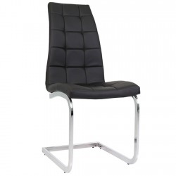 Wubin Faux Leather Cantilever Dining Chair - Black