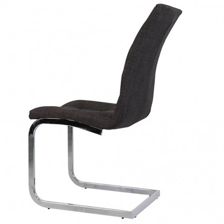 Wubin Fabric Cantilever Dining Chair Side View