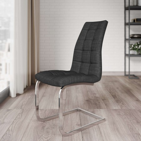 Wubin Fabric Cantilever Dining Chair Mood Shot
