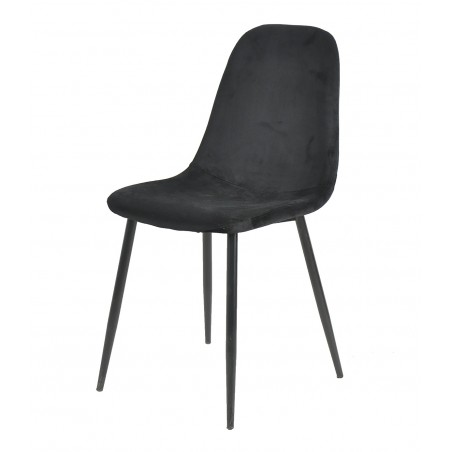 Anthol Velvet Upholstered Dining Chair - Black