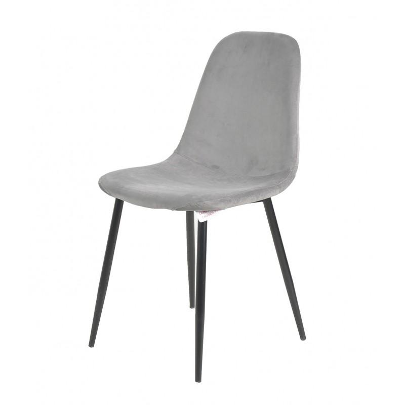 Anthol Velvet Upholstered Dining Chair - Grey