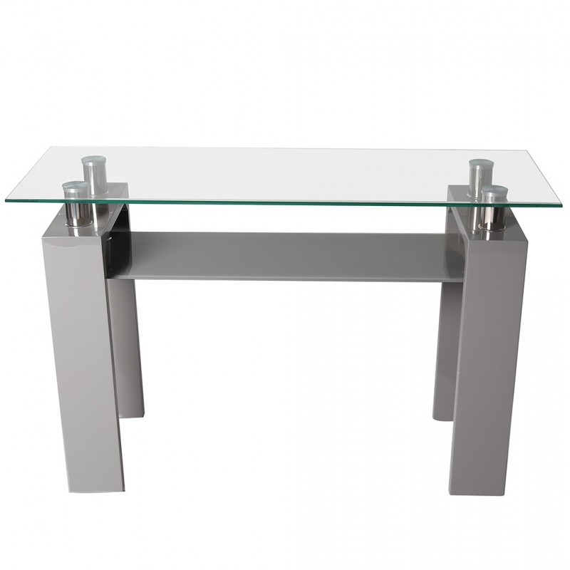 Rindt Glass & Gloss Console Table