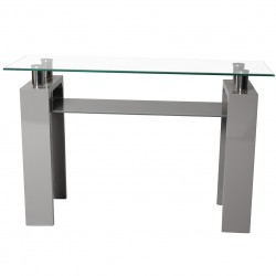 Rindt Glass & Gloss Console Table Front View