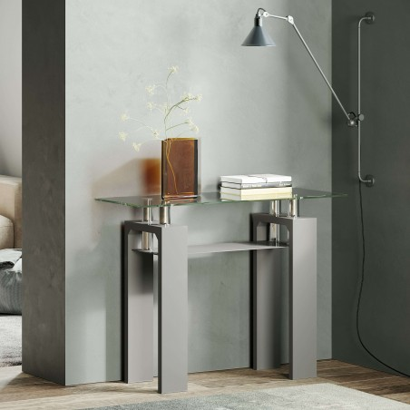 Rindt Glass & Gloss Console Table Mood Shot