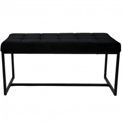 Ibarra Velvet and Chrome Dining Bench