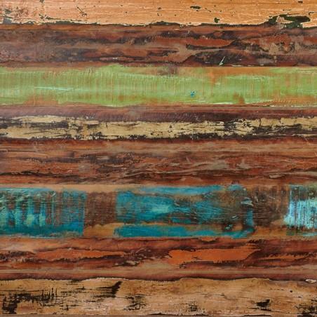 Malvan small reclaimed wood rectangular dining table panel