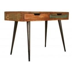 Malvan Reclaimed Wood Two-Drawer Computer Desk
