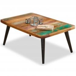 Malvan reclaimed wood coffee table . White background.