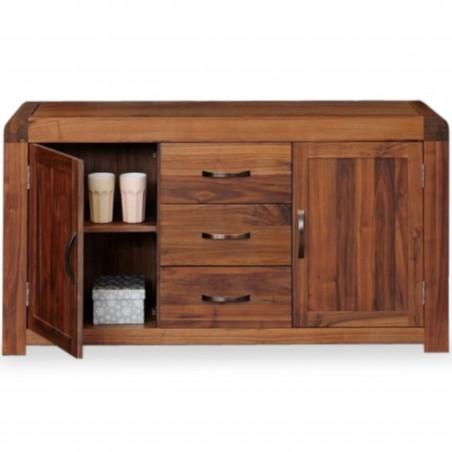 Salento Large Walnut Sideboard - Open Door