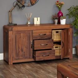 Salento large walnut sideboard side open