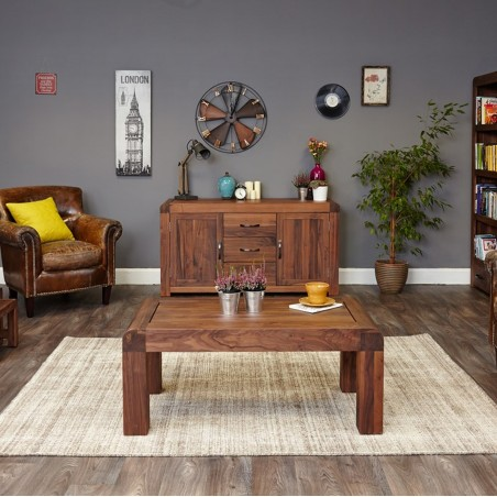 Salento large walnut sideboard front room view