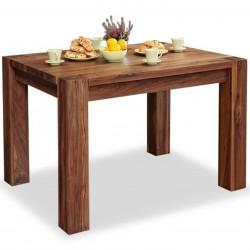 Panaro small walnut dining table 1. White background.