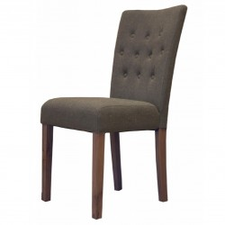 Panaro Flare Back Luxury Walnut Dining Chair - Grey
