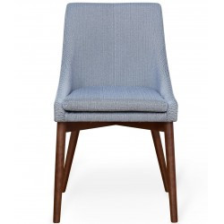 Panaro Walnut Grey Dining Chair