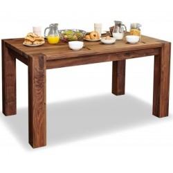 Panaro medium walnut dining table 1. White background.