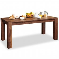 Panaro large 8 seat walnut dining table 1. White background.