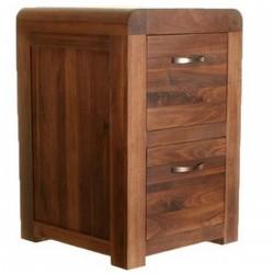 Salento Walnut Two Drawer Filing Cabinet