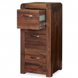 Salento Walnut 3 Drawer Filing Cabinet