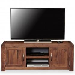 Salento Two Cupboard Widescreen Walnut TV Cabinet
