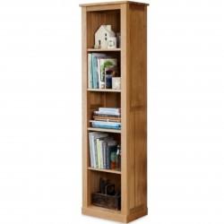 Teramo Narrow Oak Bookcase