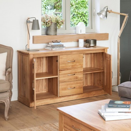 Teramo large oak sideboard open