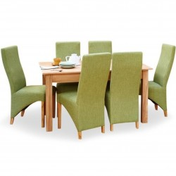 Teramo 6 Seat Walnut Dining Table 1. White Background.
