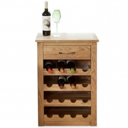 Teramo Oak Wine Rack Table 1. White Background.