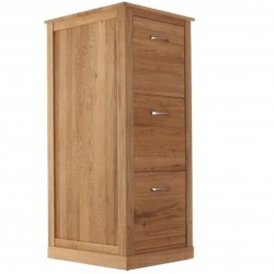 Teramo Oak 3 Drawer Filing Cabinet Front Closed 4