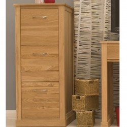 Teramo Oak 3 Drawer Filing Cabinet Front Closed