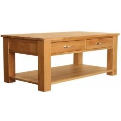 Teramo Oak Four Drawer Coffee Table