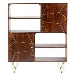 Tanda Dark Gold Display Cabinet, front view